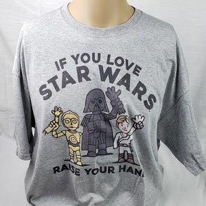 Star Wars Shirt Hands Up If You Love Star Wars